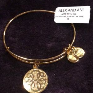 Alex and Ani Path of Life Bracelet. Gold. BNWT.
